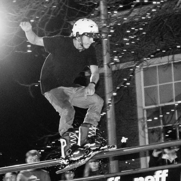 Sparrow Knox riding the rail