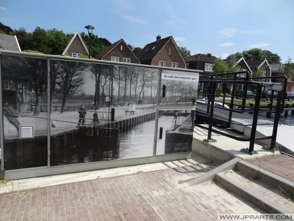 histoire de l'ancienne écluse à Assen, Pays-Bas