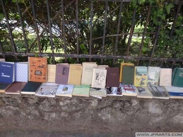 старе књиге за продају у Тирани (Албанија)