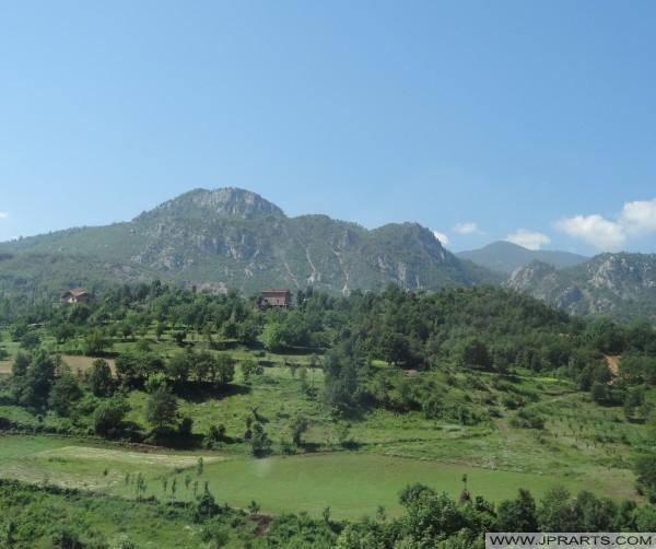 wunderschöne Landschaft in Albanien