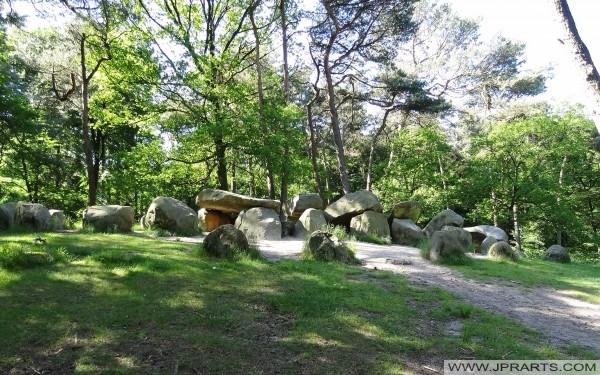 Hunebed D45 eller Dolmen i Emmerdennen (Emmen, Nederländerna)