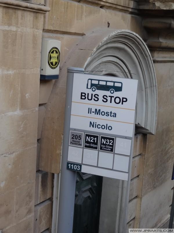 Arrêt de bus Il-Mosta - Nicolo, Malte