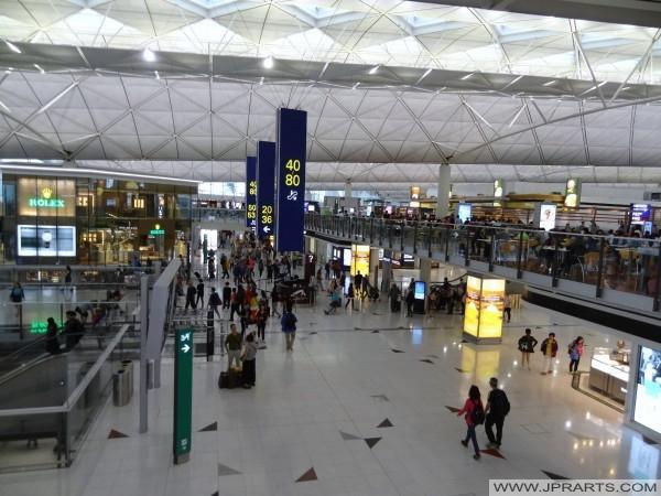 Hong Kong International Airport sala de embarque (Terminal 1)