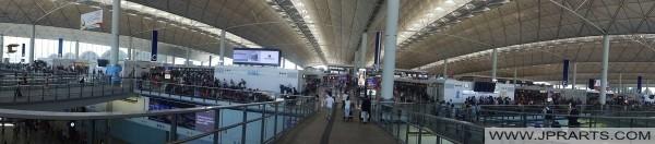 हांगकांग अंतरराष्ट्रीय हवाई अड्डे के प्रस्थान हॉल