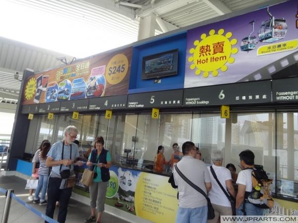 Счетчики билетов Нгонпинг 360, Гонконг