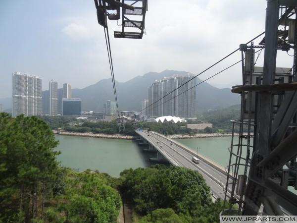 вид от канатной дороги на Tung Chung, Гонконг