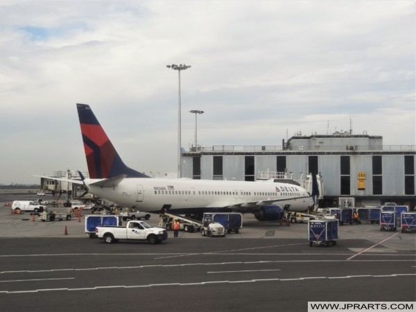 Delta Airlines at John F. Kennedy Airport in New York, USA