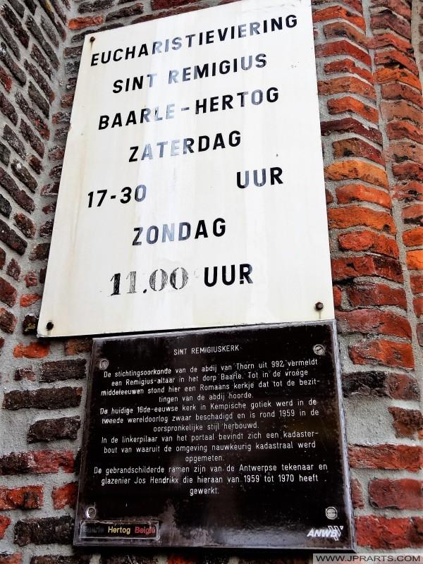 Eucharisztia Szent Remigius templom Baarle-Hertog, Belgium