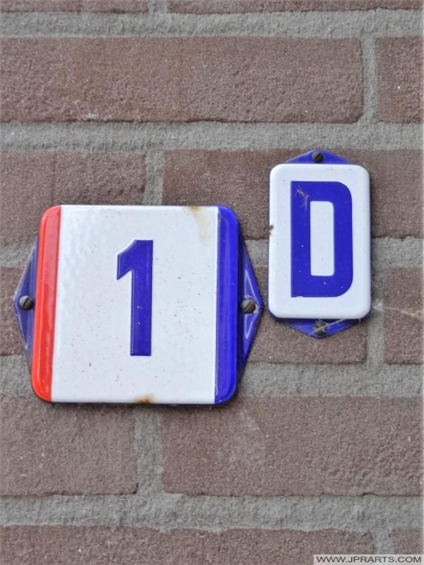 Hausnummer in Baarle-Nassau, Niederlande
