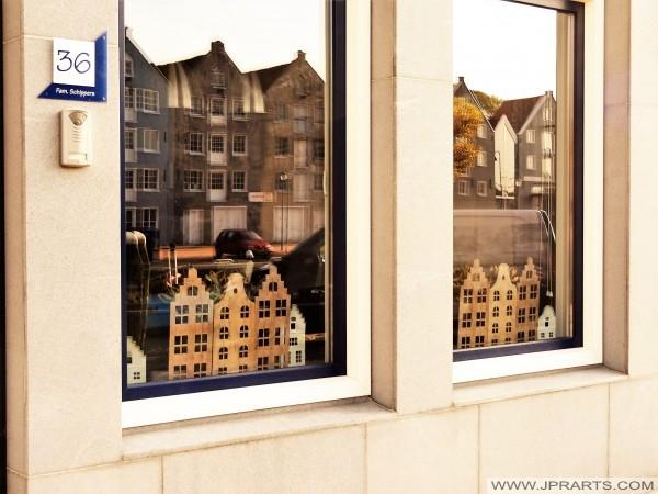 Typisk vindu i Maassluis, Nederland