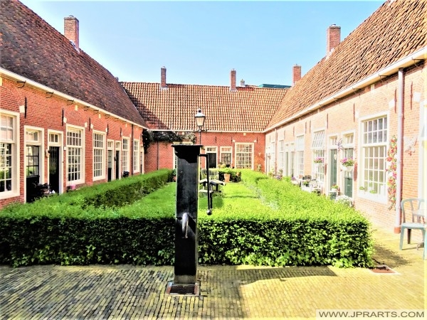 Small Courtyard of the Boshuisen Guesthouse in Leeuwarden, The Netherlands