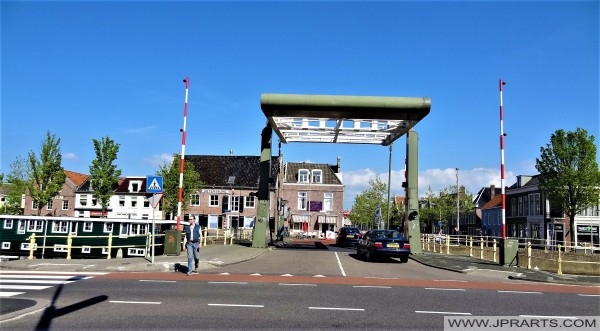 Vlietsterbrug (1938) in Leeuwarden, Nederland