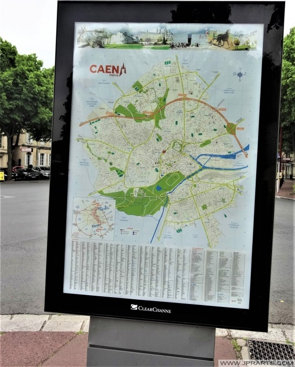 Carte de Caen, France