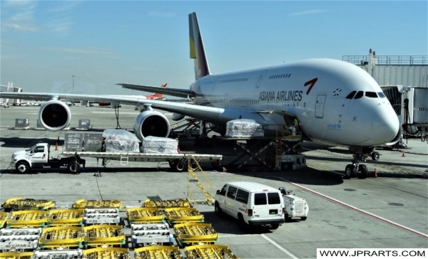 Asiana Airlines at JFK Airport in New York, USA