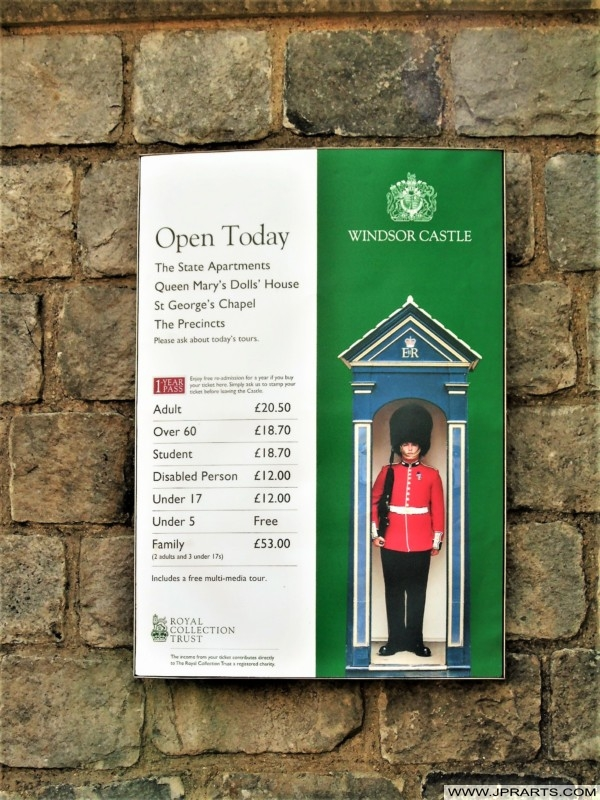 Opening Times and Ticket Prices for Windsor Castle in 2017