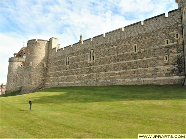 Outer Wall of Windsor Castle in the UK