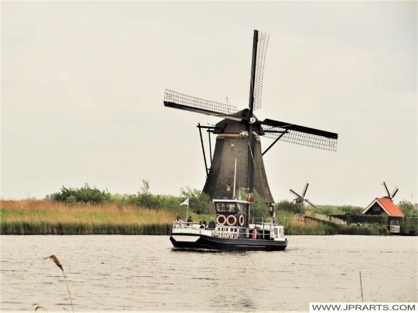 Boottochtje Kinderdijk, Nederland