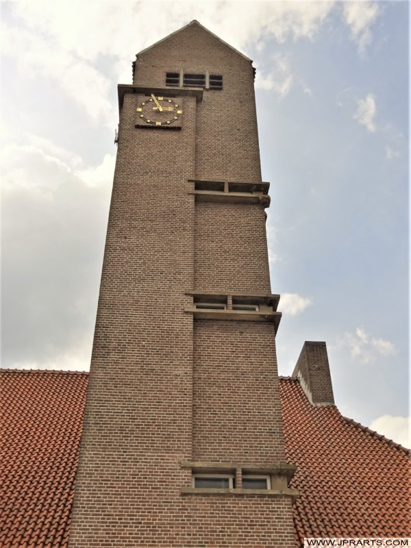Church in Kinderdijk, Holland