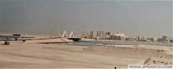 Sheikh Isa bin Salman Causeway Bridge in Manama, Bahrain