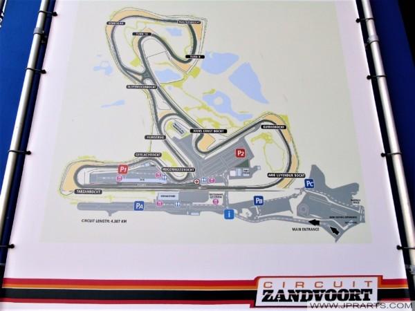 Circuit Zandvoort Map