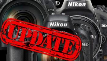 Nikon: Firmware-Updates für D7200, D500, D750 und D810