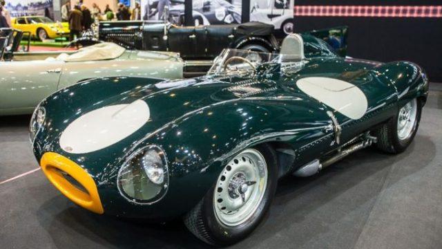 Jaguar D-Type - Fiskens stand - Retromobile 2014