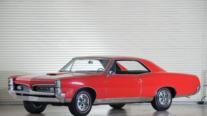 Pontiac GTO considérée comme la première voiture de muscle car