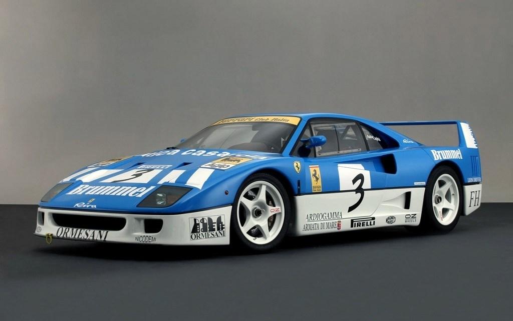 Ferrari F40 GT Michelotto 1991 – 700 ch pour un poids de 1040 Kg.