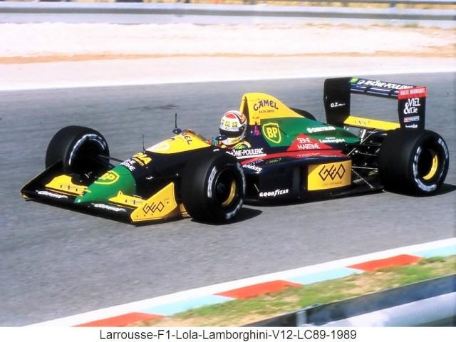 Larrousse F1 Lola Lamborghini V12 LC89 1989