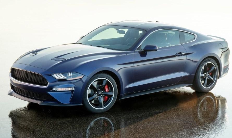 Ford Mustang Bullitt Kona Blue 2019 pour la recherche du diabète juvénile
