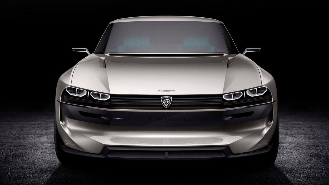 Peugeot e-Legend Concept 2018 coupé à l'ancienne électrique autonome