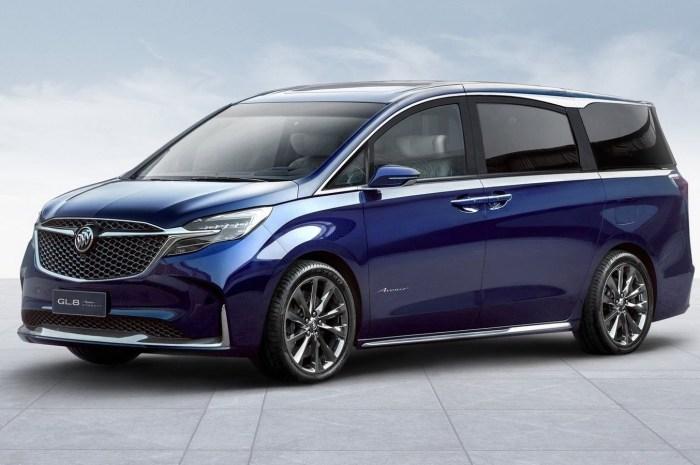 Buick GL8 Avenir Concept 2019: Un nouveau look pour le monospace.