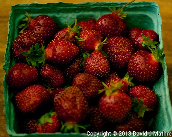 Fresh Picked Strawberries. Image taken with a Leica TL2 camera and 60 mm f/2.8 macro lens (David J Mathre)
