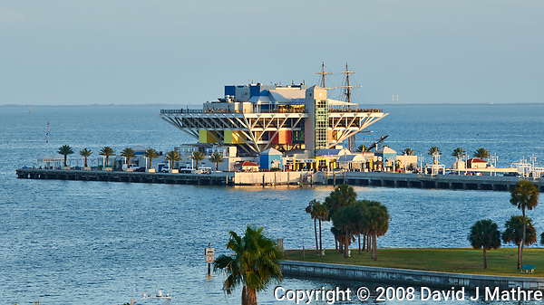 St. Petersburg Pier. Daytime view from a balcony at the Historic Vinoy Hotel. Image taken with a Nikon D3x camera and 80-400 mm VR lens (ISO 250, 210 mm, f/8, 1/60 sec) (David J Mathre)