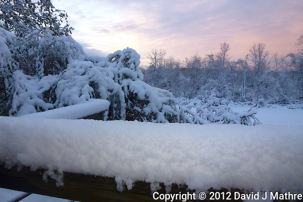 Dawn after Nor'easter Athena, One+ Week Post Hurricane Sandy. Image taken with a Leica V-Lux 30 camera (David J Mathre)
