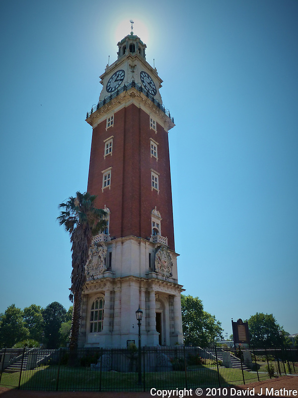 Torre Monumental (monument tower) during a morning walk in Buenos Aires. Images taken with a Leica V-Lux 20 camera (ISO 125, 4.1 mm, f/5. 1/500 sec) (David J Mathre)