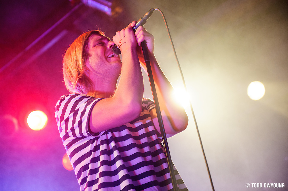 Awolnation frontman Aaron Bruno performing at Pop's in Sauget, IL on January 21, 2012. (Todd Owyoung)