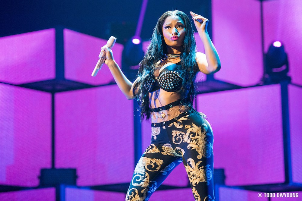 Nicki Minaj performing at the iHeartRadio Music Festival in Las Vegas, Nevada on Sepembter 20, 2014. (Todd Owyoung)