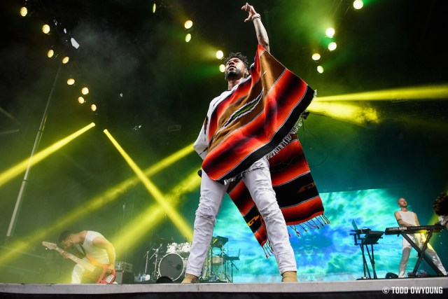 Miguel photographed performing at the Governors Ball Music Festival on Randalls Island in New York City on June 4, 2016 (Todd Owyoung)
