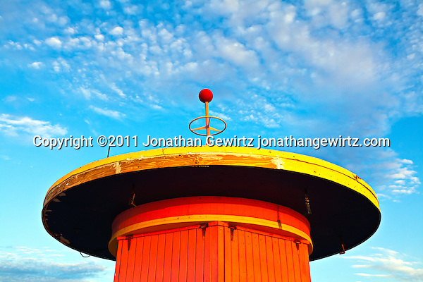A lifeguard hut on South Miami Beach. (Copyright 2011 Jonathan Gewirtz jonathan@gewirtz.net)