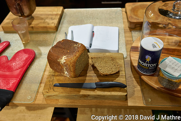 Rye, Whole Wheat, Oatmeal, Maple Syrup Bread. Image taken with a Leica CL camera and 23 mm f/2 lens (ISO 640, 23 mm, f/2, 1/60 sec). (David J Mathre)