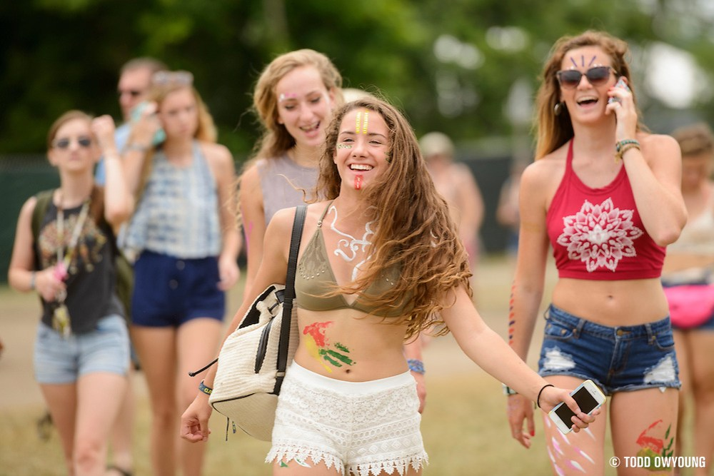Attendees at the Firefly Music Festival in Dover, DE on June 18-20, 2015. (Todd Owyoung)