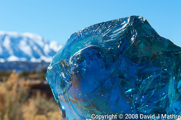 "Blue Glass. Elderhostel ""Southwest Photography"" Workshop Day 2. Kelly Place Cortez Colorado. Image taken with a Nikon D3 and 24-70 mm f/2.8 VR lens (ISO 200, 70 mm,  f/22, 1/160 sec) (David J Mathre)"