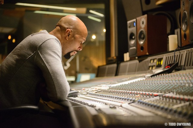 Common recording at the Red Bull Studios in New York City on March 12, 2015. (Todd Owyoung)