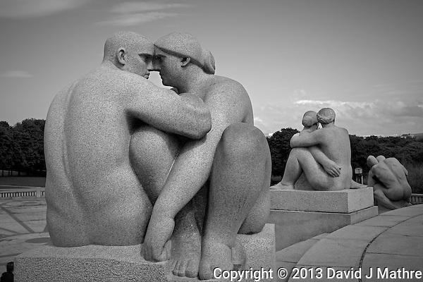 Vigeland Sculpture Park in Oslo, Norway. Semester at Sea, Spring 2013 Enrichment Voyage Day 32. Image taken with a Leica X2 camera (ISO 200, 24 mm, f/8, 1/800 sec) (David J Mathre)