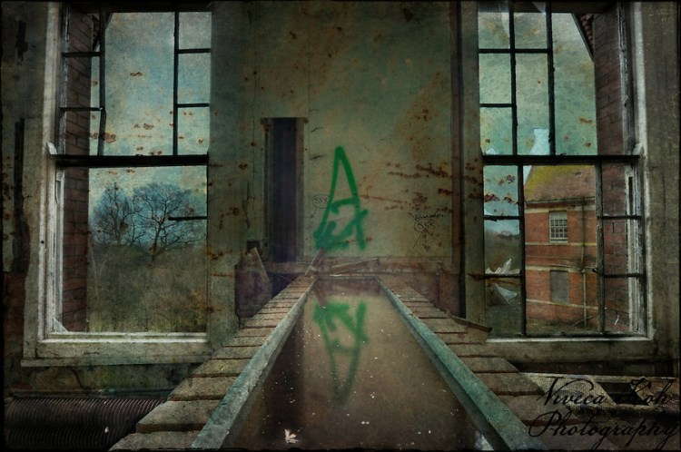 Channel of water inside Hellingly Asylum (Viveca Koh)