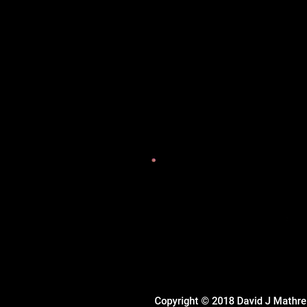 Mars. Image taken with a Nikon D850 camera and 500 mm f/4 VRII telephoto lens (ISO 64, 500 mm, f/11, 1/125 sec). (DAVID J MATHRE)