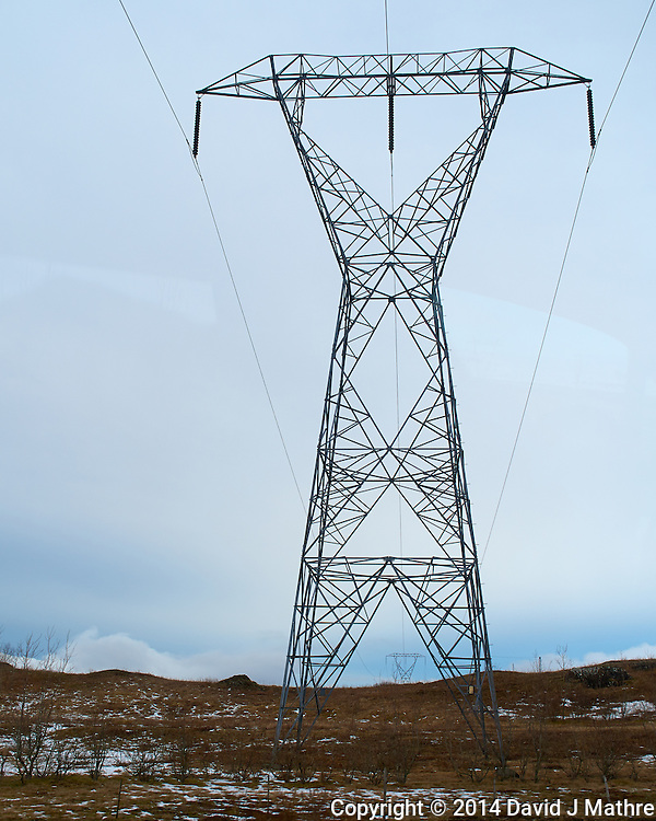 High Voltage Power Line in Southeastern Iceland. Image taken with a Leica X2 camera (ISO 100, 24 mm, f/4.5, 1/1000 sec). (David J Mathre)