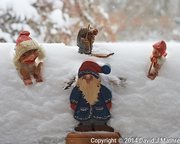 Trolls Playing in the Snow. Winter in New Jersey. Image taken with a Nikon Df camera and 58 mm f/1.4G lens (ISO 2200, 58 mm, f/8, 1/250 sec). Raw image processed with Capture One Pro 7. (David J Mathre)