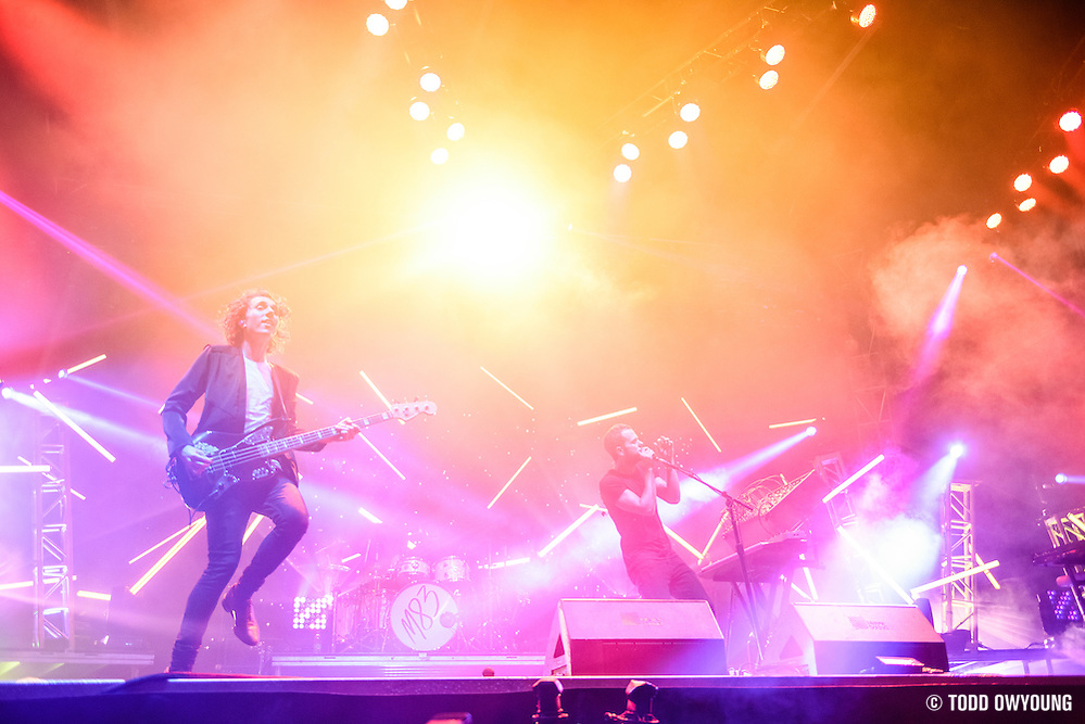 M83 photographed performing at the Governors Ball Music Festival on Randalls Island in New York City on June 4, 2016 (Todd Owyoung)